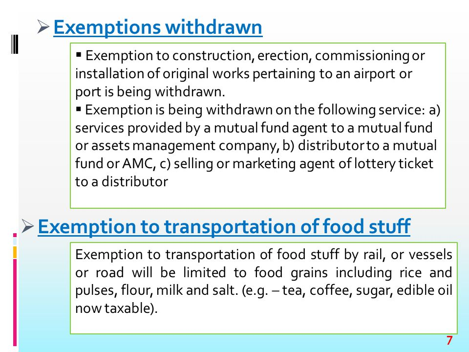 Exemptions withdrawn  Exemption to construction, erection, commissioning or installation of original works pertaining to an airport or port is bein