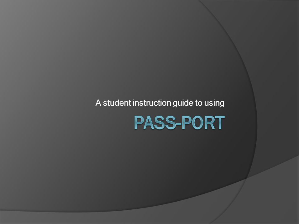 A student instruction guide to using