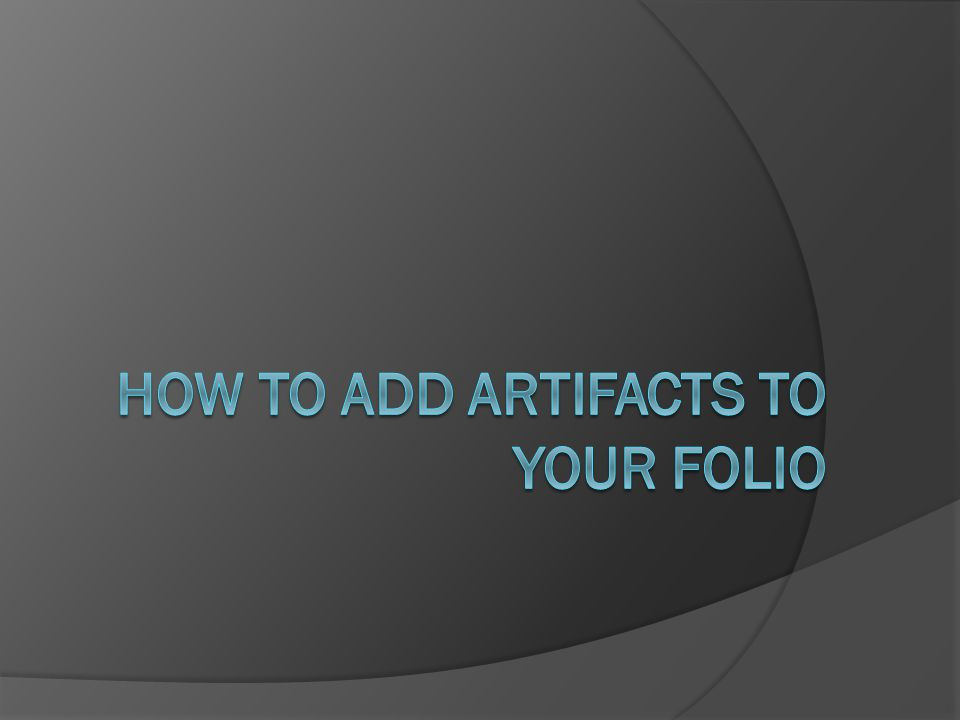 Begin by viewing your folios page. Click Folios to begin.