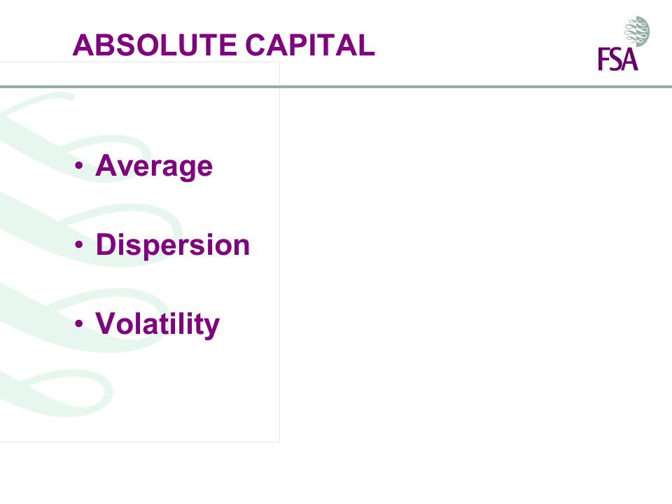 ABSOLUTE CAPITAL Average Dispersion Volatility
