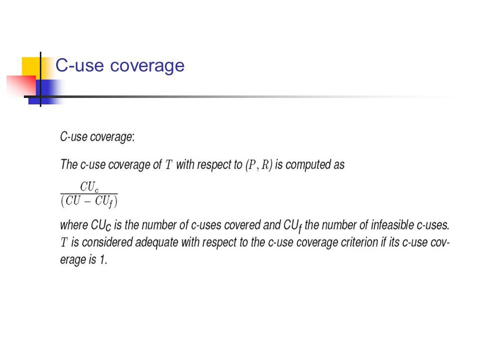 C-use coverage