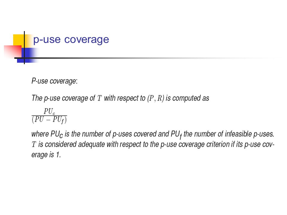 p-use coverage