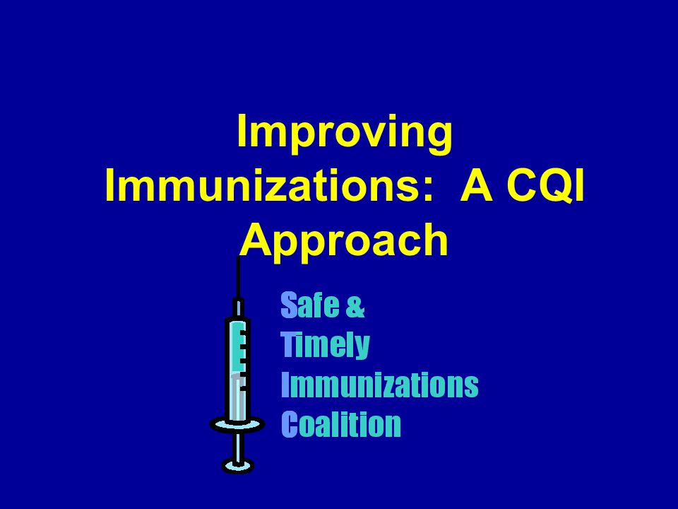 Improving Immunizations: A CQI Approach