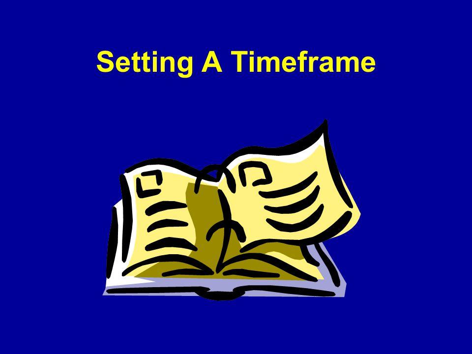 Setting A Timeframe