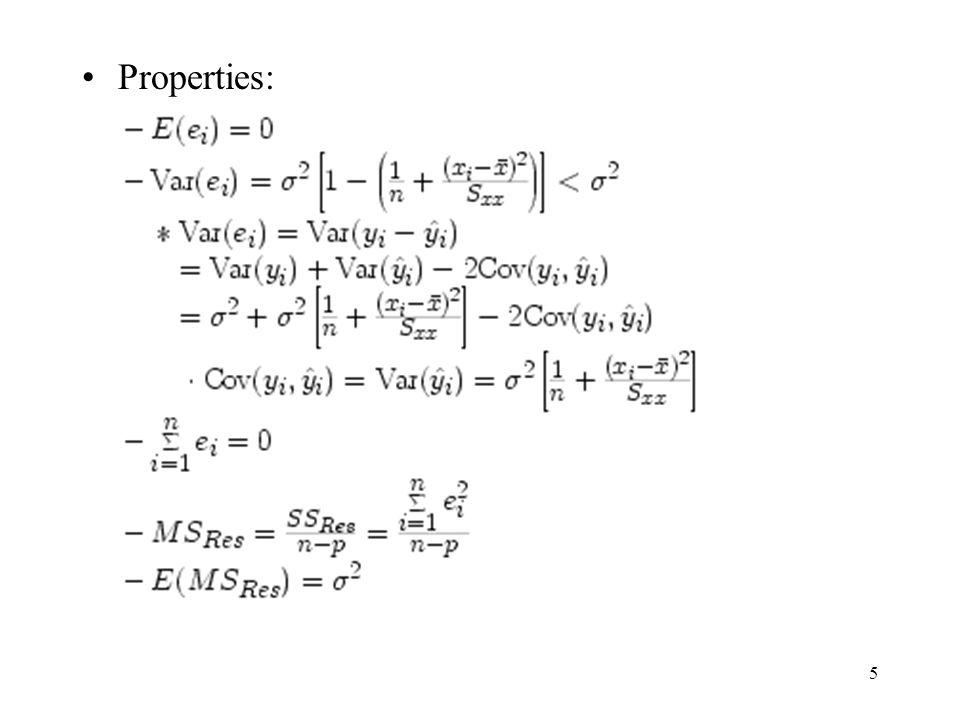 5 Properties: