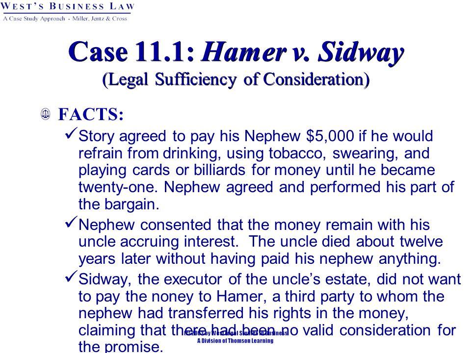 Case 11.1: Hamer v.