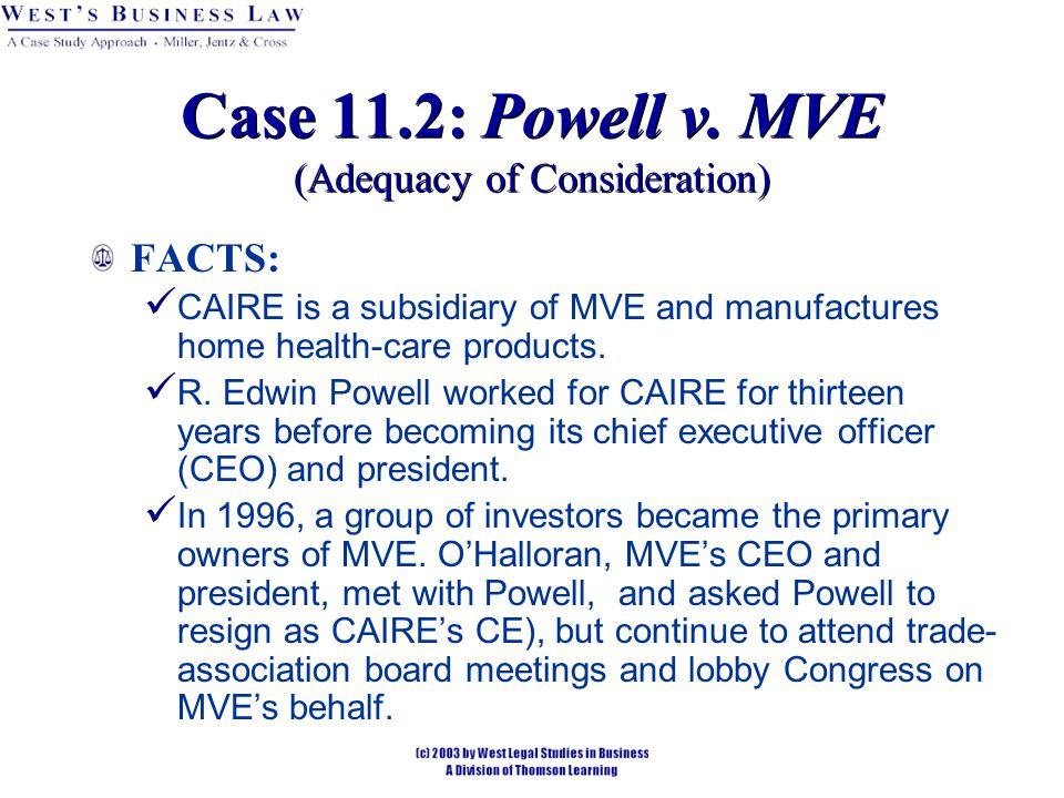 Case 11.2: Powell v.