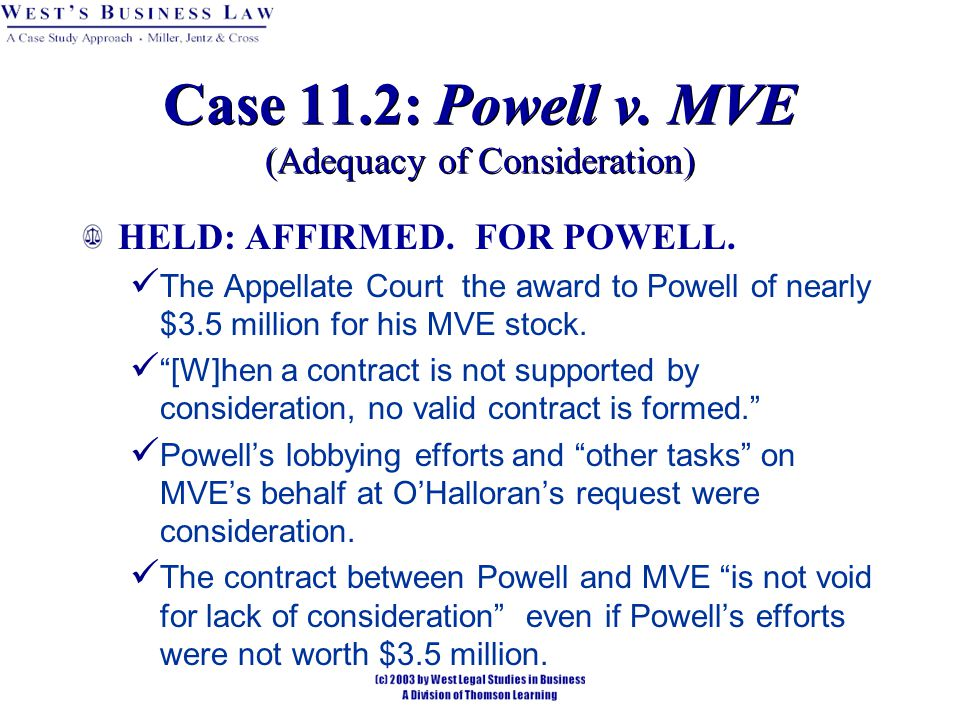 HELD: AFFIRMED. FOR POWELL.