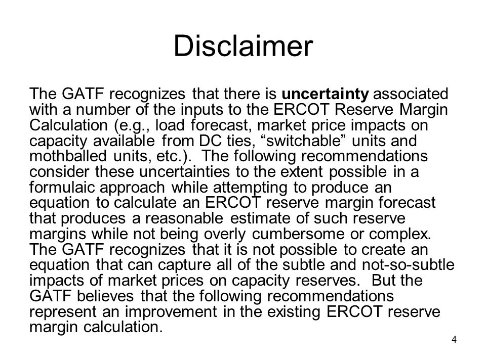 5 Consensus Items: Load ERCOT econometric load forecast will be used for the next CDR calculation (likely to be in May 2005).