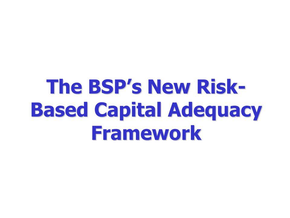 The BSP's New Risk- Based Capital Adequacy Framework