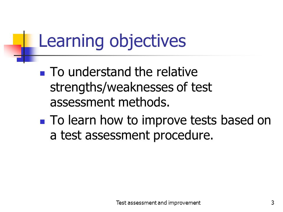 Test assessment and improvement14 The coverage principle- continued Requirements Classes Functions Interface mutations Exceptions Coverage Domains Coverage Elements