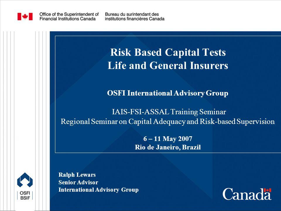 12 Capital C.Risk Based Capital Calculations 1.