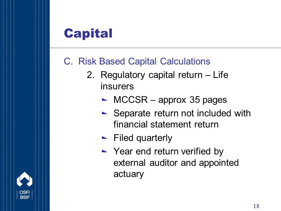 18 Capital C.
