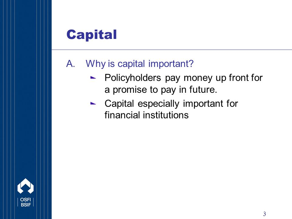 4 Capital A.Why is capital important .