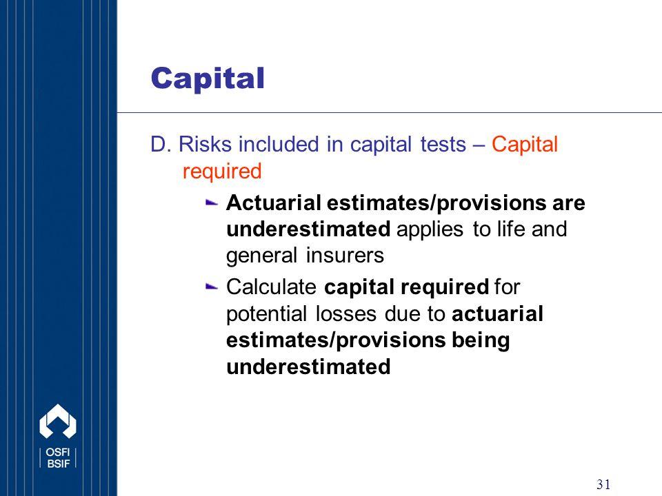 31 Capital D.
