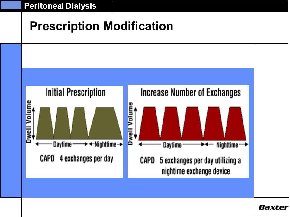 Peritoneal Dialysis Prescription Modification