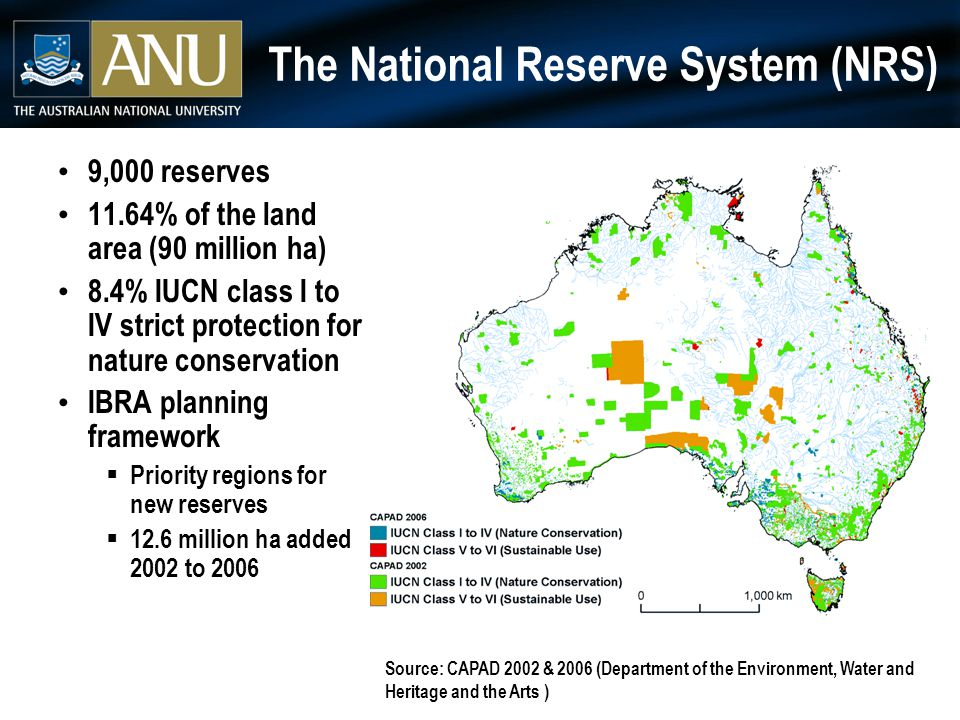 The National Reserve System and the conservation of Australian riverine ecosystems 1.