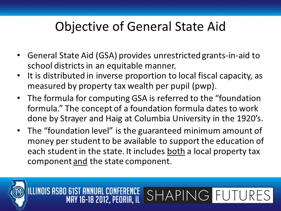 Supplemental GSA Poverty Grant Districts receive additional funding for pupils categorized as poverty pupils. These grants are paid as part of the GSA formula, but all districts are eligible regardless of which GSA formula applies to the district.