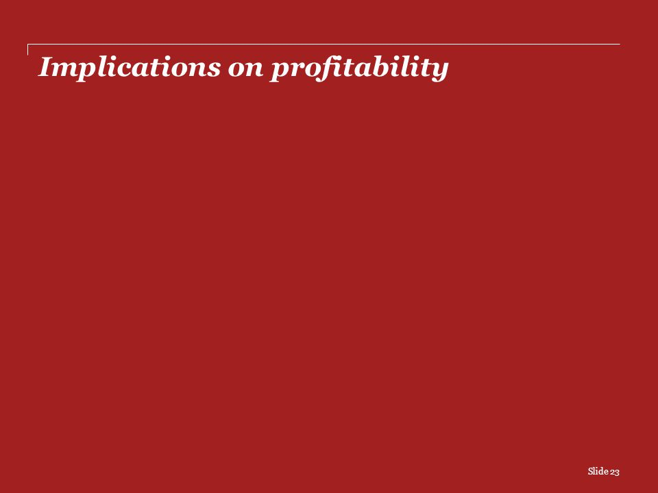 Implications on profitability Slide 23