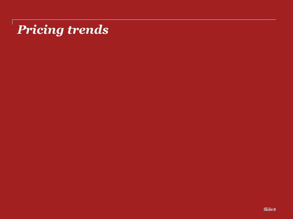 Pricing trends Slide 8