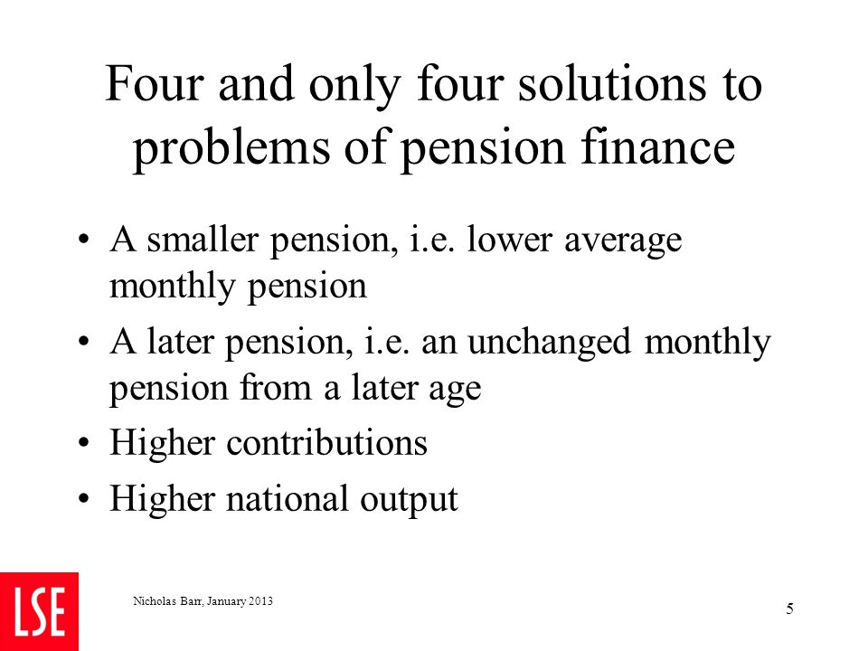 4.2 Recommendation 1: Later retirement but more flexible retirement Why.