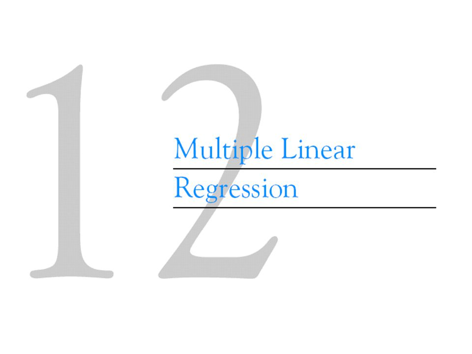 12-2 Hypothesis Tests in Multiple Linear Regression 12-2.2 Tests on Individual Regression Coefficients and Subsets of Coefficients The test statistic is Reject H 0 if |t 0 | > t  /2,n-p.