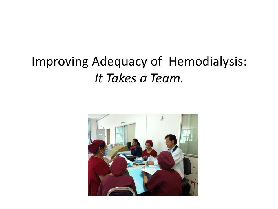 Improving Adequacy of Hemodialysis: It Takes a Team.