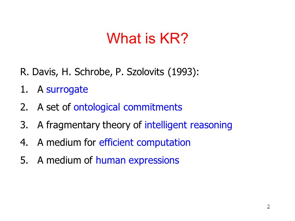 2 What is KR. R. Davis, H. Schrobe, P.