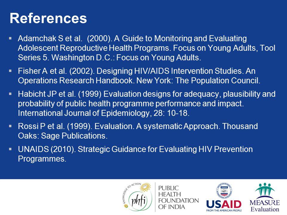 References  Adamchak S et al. (2000).