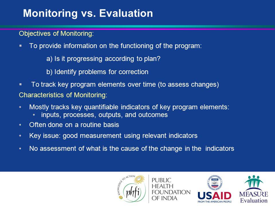 Monitoring vs.