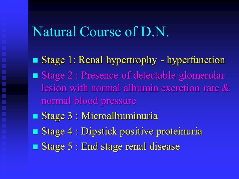 Natural Course of D.N.