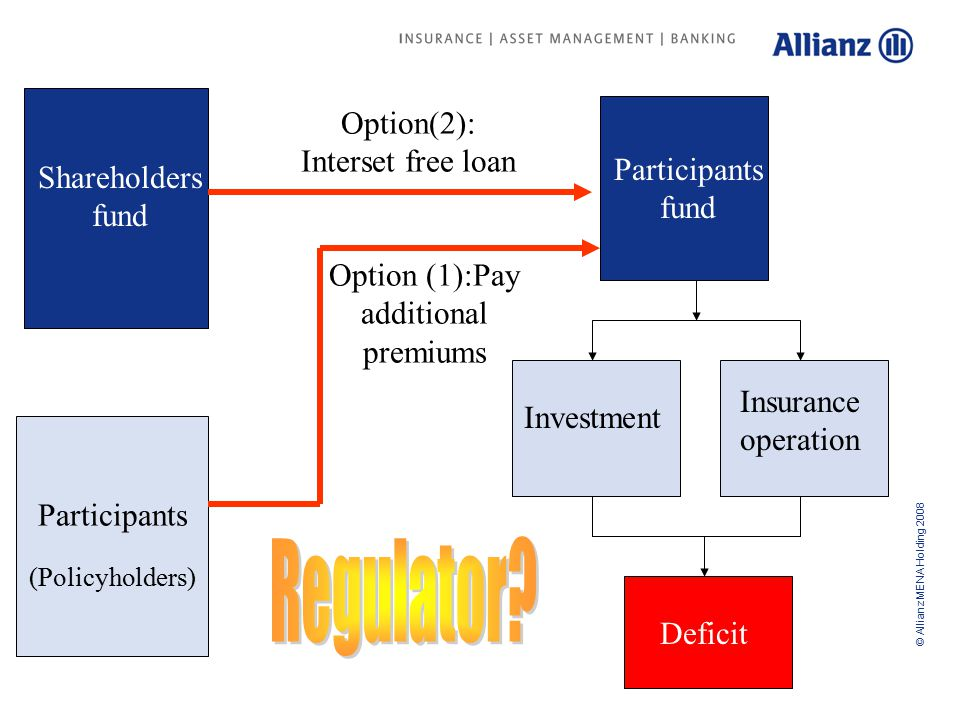 © Allianz MENA Holding 2008 Agenda Outline Takaful Structure Corporate Governance Issues Overview about Takaful marketSolvency Margin and Capital Adequacy Issues Allianz Takaful