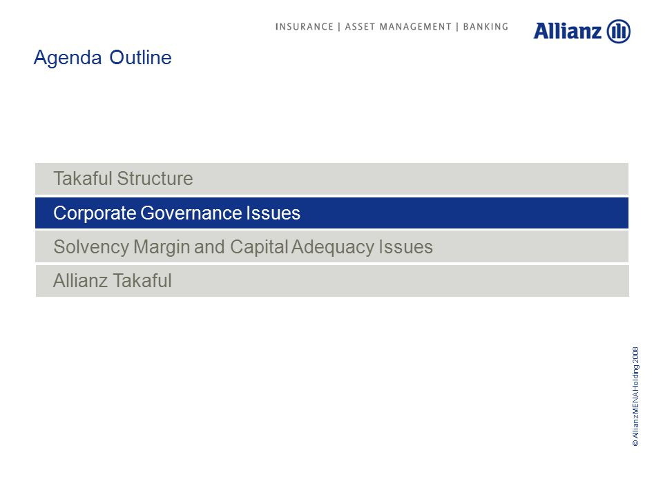 © Allianz MENA Holding 2008 Who is protecting the interests of Participants.