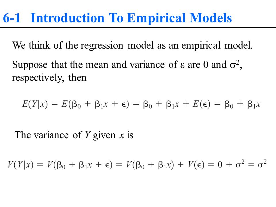 6-2 Simple Linear Regression The Analysis of Variance Approach