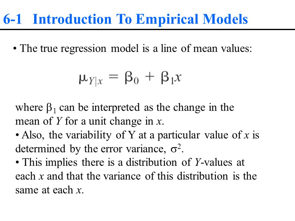 6-2 Simple Linear Regression Regression and Analysis of Variance