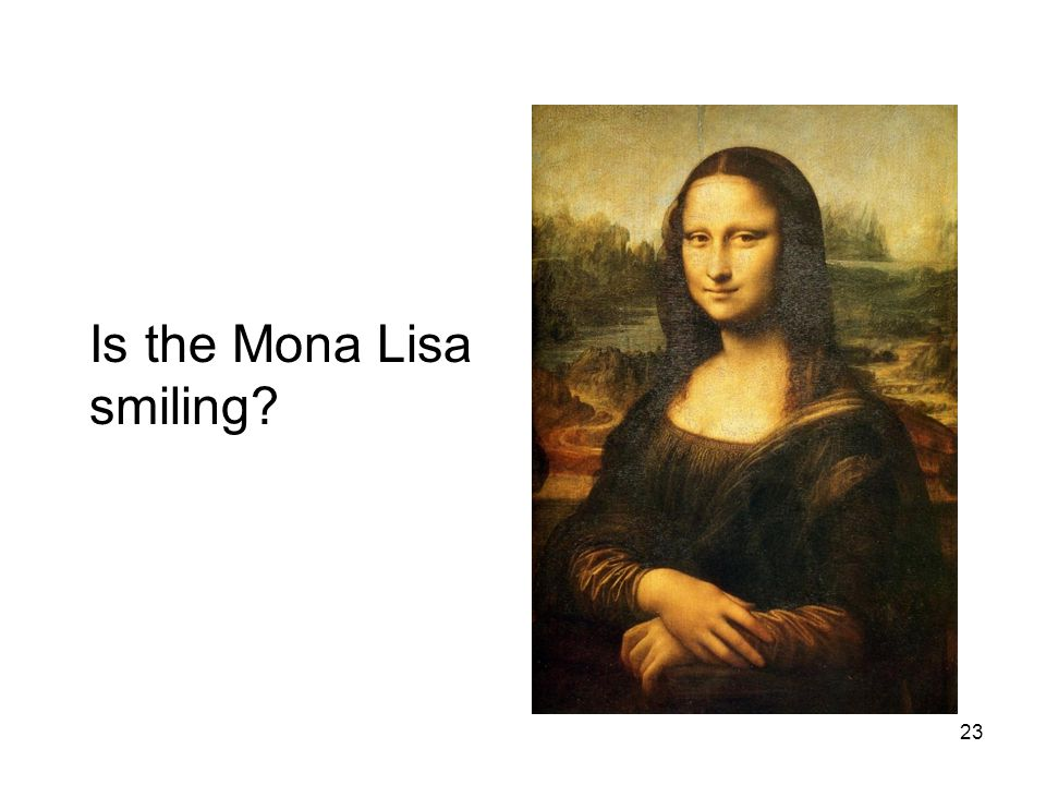 23 Is the Mona Lisa smiling?