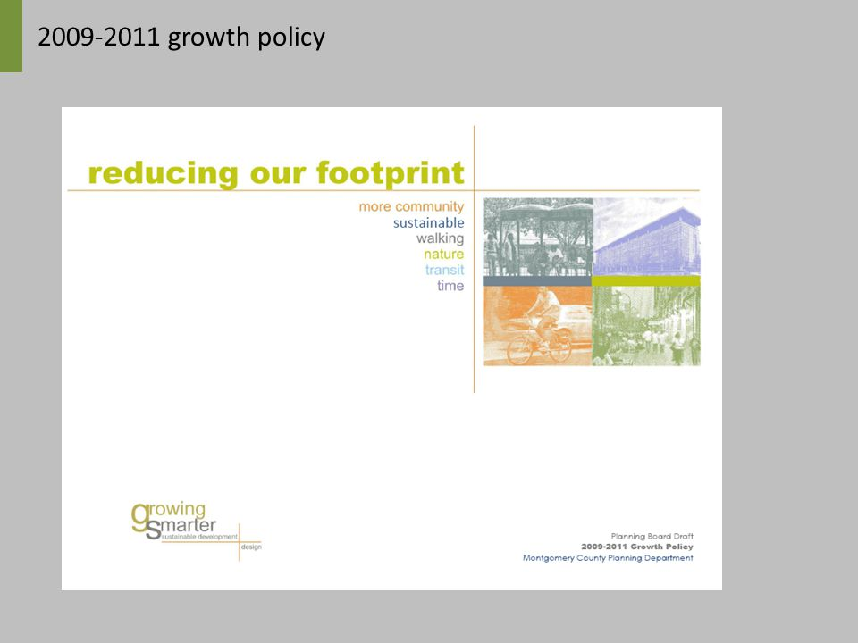 2009-2011 growth policy