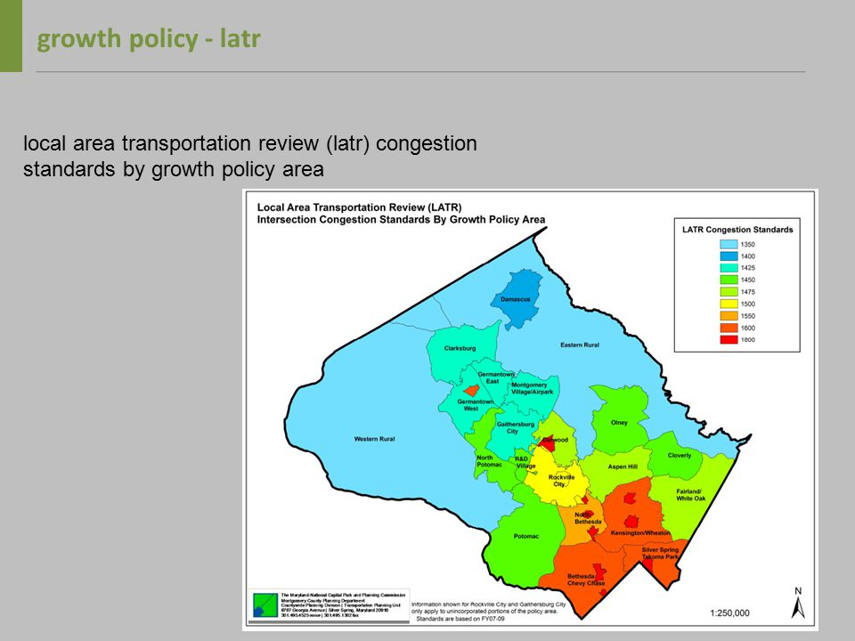 growth policy – transportation mitigation priority is trip reduction, non-auto, then roads pamr and latr can be satisfied concurrently payment in lieu opportunities non-auto facilities apply to pamr and latr current table derived from latr rates based on old cost data