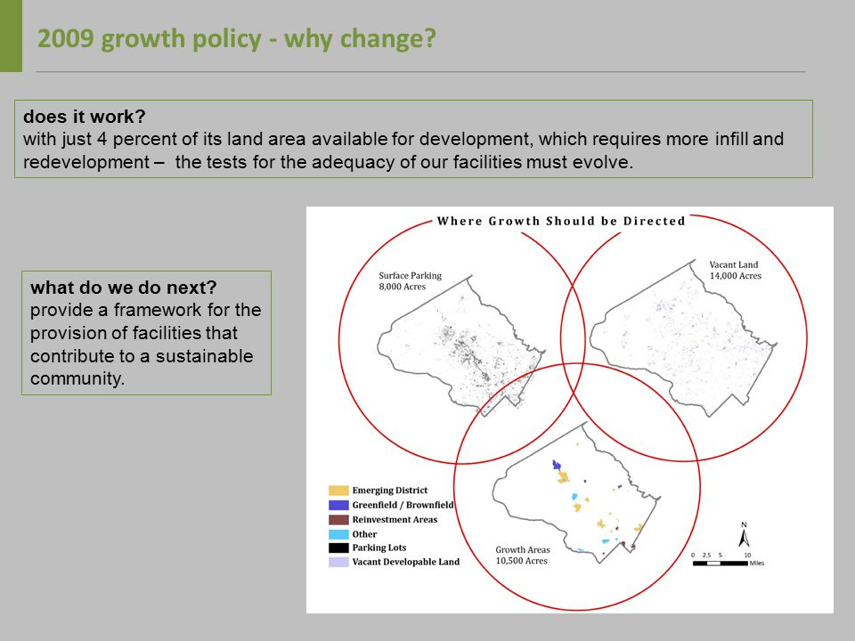 2009 growth policy - why change. does it work.