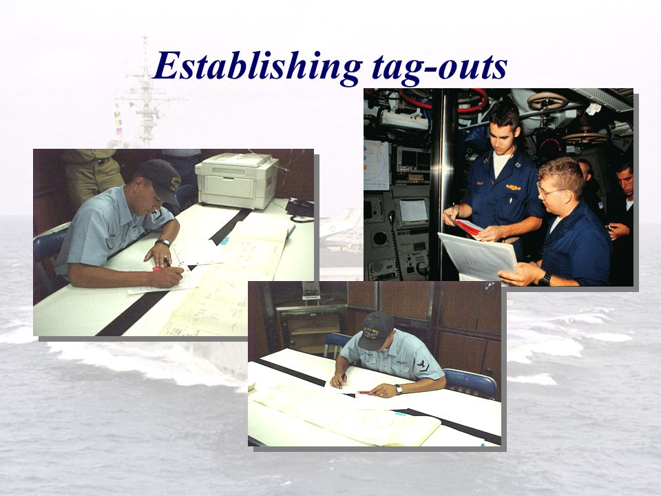  Acts as the Authorizing Officer for RA tag-outs. Responsibilities Repair Activity  Signs TORS associated with RA work.  Witnesses or verifies chec