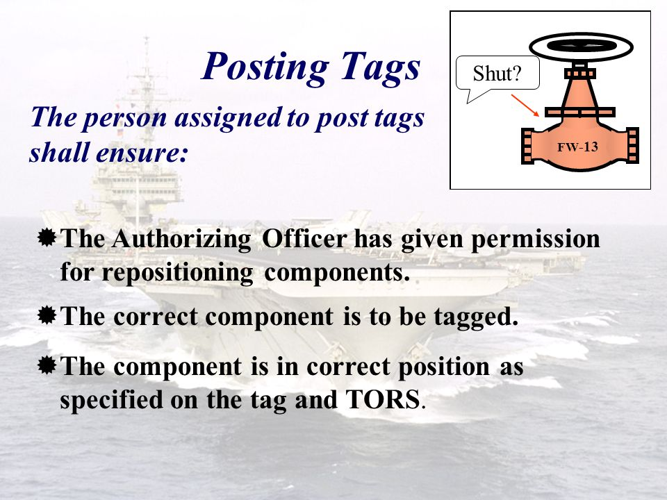 Posting Tag-outs