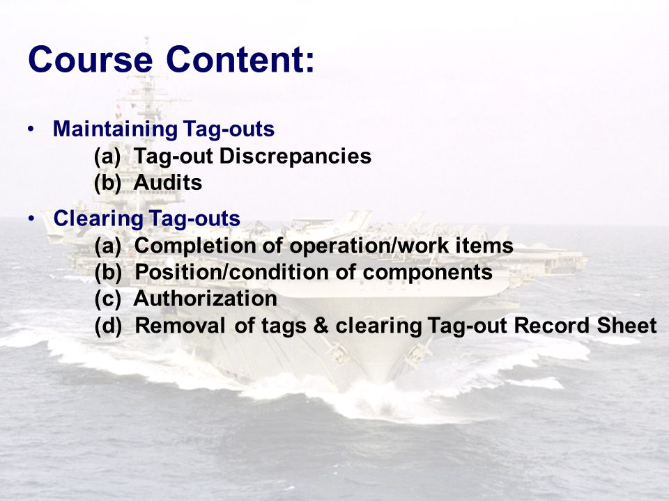S- 001 TS-13 Debra Higgins David Wheeler Bill Basenger Check of Posted Tags After checking each component: SHUT  When required, the RA witness should normally accompany Ship's Force, witness the second check of the tag installation and sign block 7 of the tag.