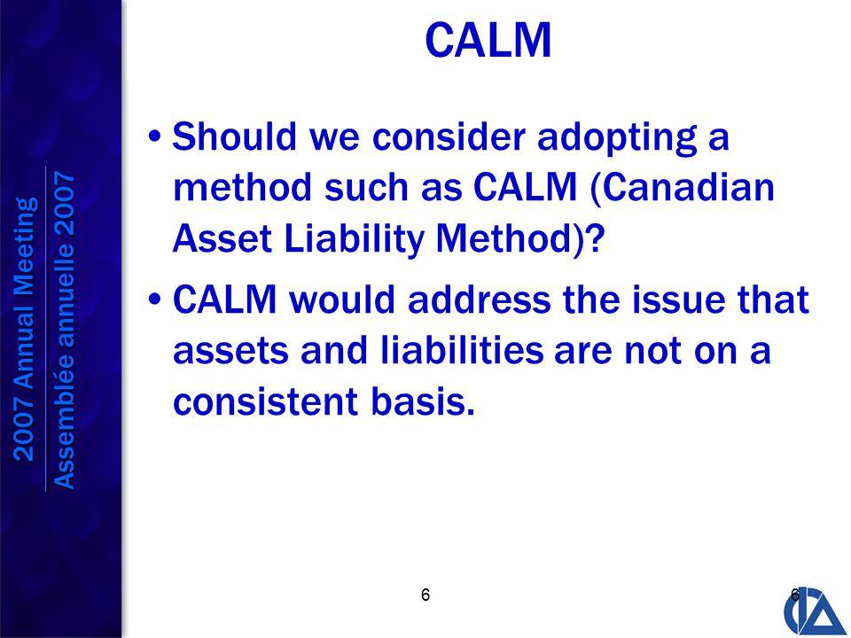 77 CALM However, CALM presents several hurdles.