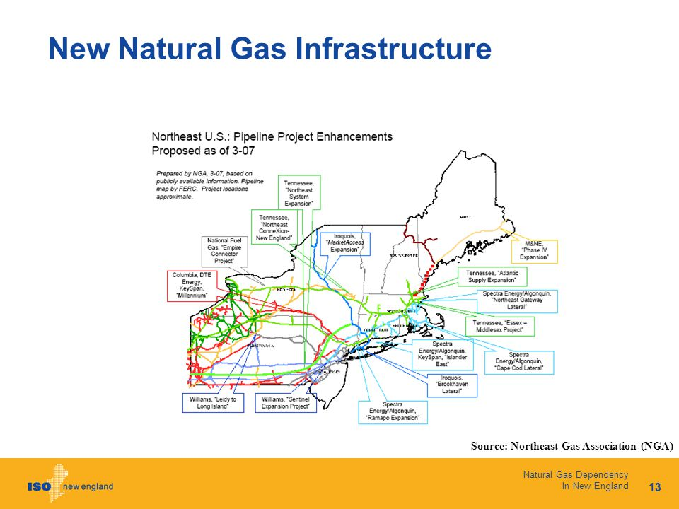 13 Natural Gas Dependency In New England New Natural Gas Infrastructure Source: Northeast Gas Association (NGA)