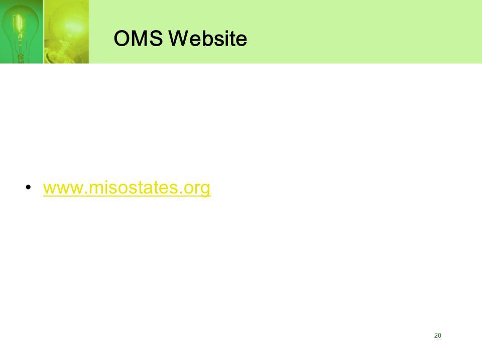 20 OMS Website www.misostates.org