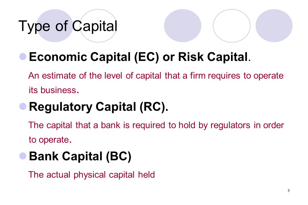 10 Economic Capital Economic capital acts as a buffer that provides protection against all the credit, market, operational and business risks faced by an institution.
