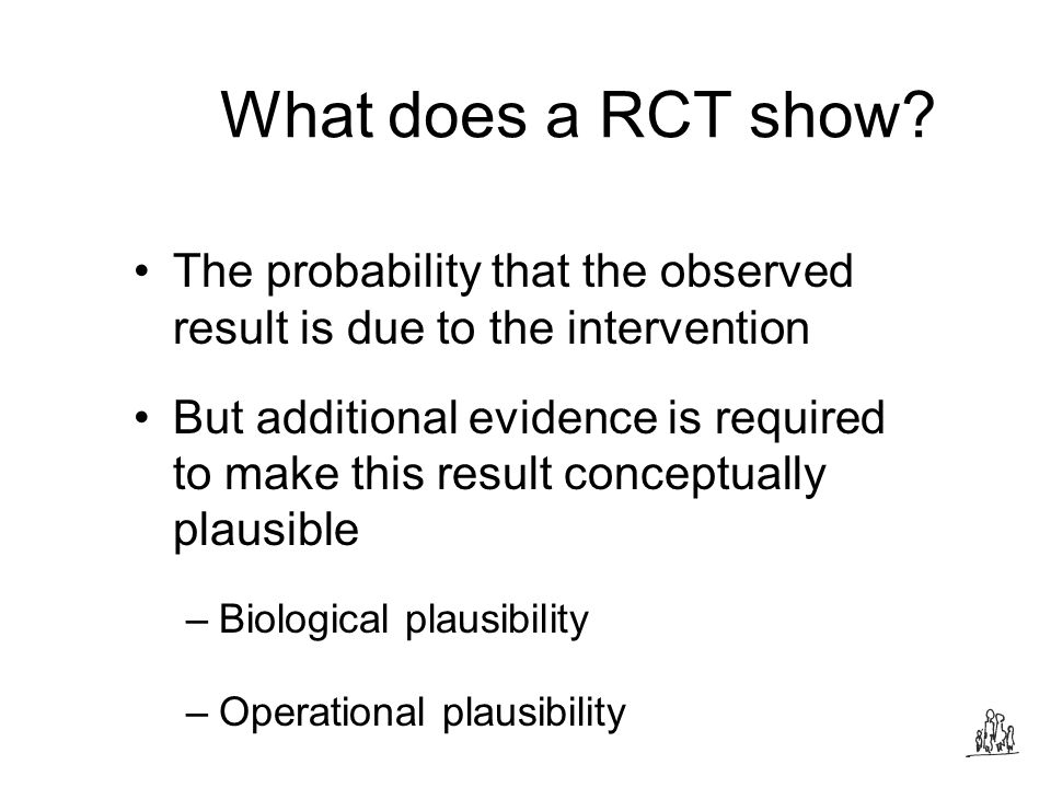 What does a RCT show.
