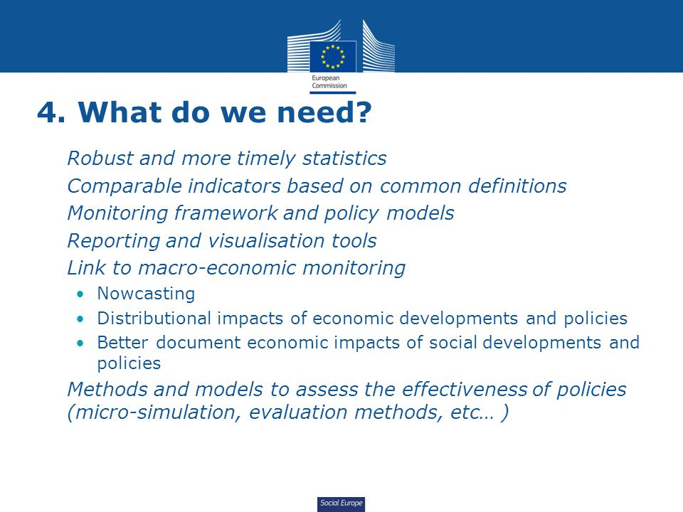Social Europe 4. What do we need.