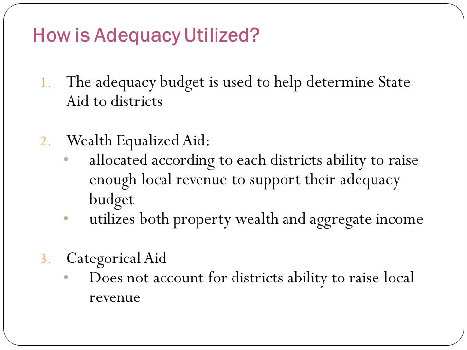 How is Adequacy Determined in LEH for 2011-2012.