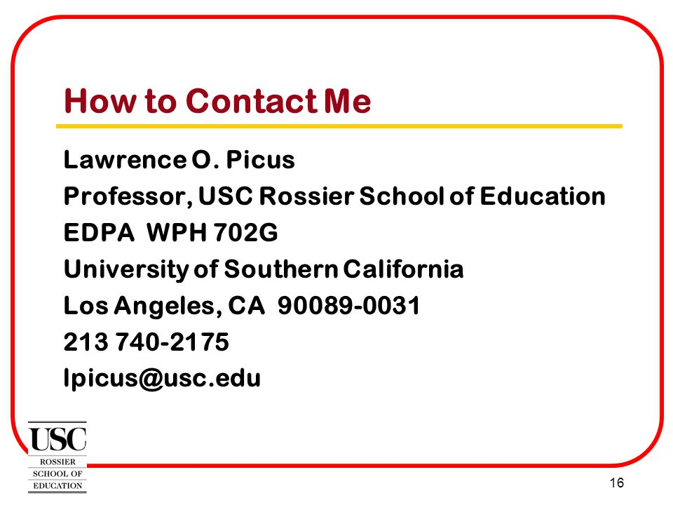 16 How to Contact Me Lawrence O.
